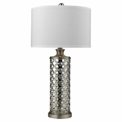"<strong>DwellStudio</strong> Lattice 32"" H Table Lamp with Drum Shade"