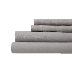 <strong>DwellStudio</strong> Linen Smoke Sheet Set