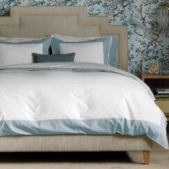 <strong>DwellStudio</strong> Modern Border Mist Duvet Cover