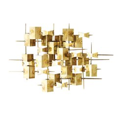 Folded Brass Wall Décor