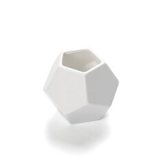 Faceted White Vase