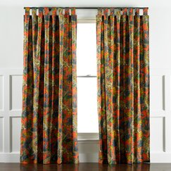 <strong>Ming Dragon Persimmon Curtain Panels</strong>