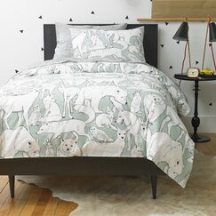 Wildwood Celadon Duvet Set