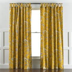 Vintage Blossom Citrine Curtain Panels