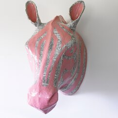<strong>DwellStudio</strong> Zebra Petal Papier-Mâché Head Wall Décor