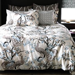 <strong></strong> Peacock Dove Duvet Cover
