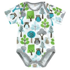 <strong></strong> Owls Short Sleeve Bodysuit