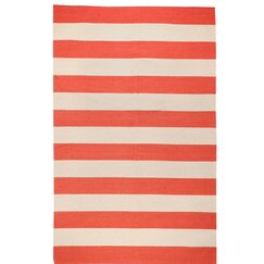 <strong>Draper Stripe Brick Red Rug</strong>