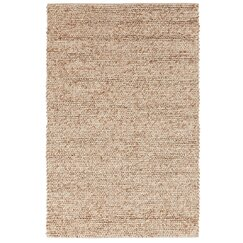 <strong>Braided Wool Dark Beige Rug</strong>