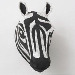 Zebra Natural Papier-Mache Head Wall Décor