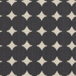 <strong></strong> Ikat Dot Fabric - Black
