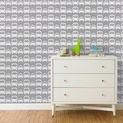 <strong>DwellStudio</strong> Cars Dove Wallpaper