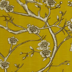 <strong>Vintage Blossom Fabric - Citrine</strong>