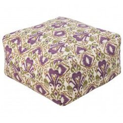 <strong></strong> Ikat Grape Outdoor Pouf