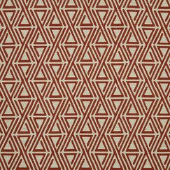 <strong>DwellStudio</strong> Triangle Maze Fabric - Currant