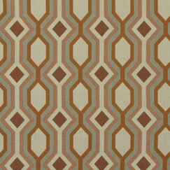<strong>DwellStudio</strong> Diamond Vista Fabric - Tangerine
