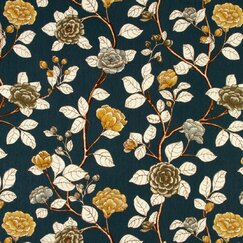 <strong>DwellStudio</strong> Leda Peony Fabric - Midnight