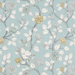 <strong>DwellStudio</strong> Leda Peony Fabric - Aquatint