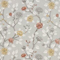 Leda Peony Fabric - Dove