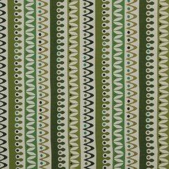 <strong></strong> Nordic Stripe Fabric - Lime