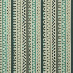 <strong>DwellStudio</strong> Nordic Stripe Fabric - Turquoise