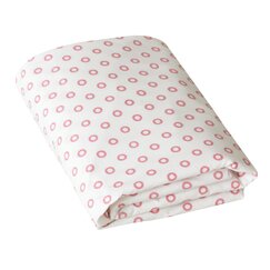 <strong>Floral Dot Pale Rose Fitted Crib Sheet</strong>