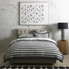 <strong></strong> Graphic Stripe Ink Duvet Set