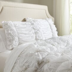 Laurel Comforter Set, White