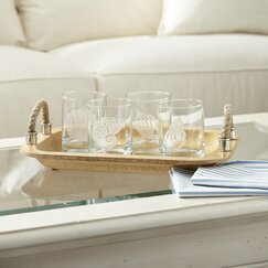 Seashell Etched Rocks Glasses (Set of 4)