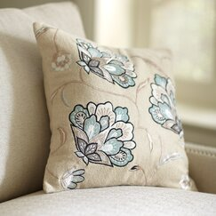 Odette Floral Pillow Cover, Teal