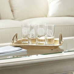 Seashell Etched Highball Glasses (Set of 4)