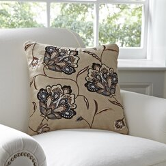 Odette Floral Pillow Cover, Chocolate