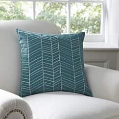 Cassie Pillow Cover, Teal