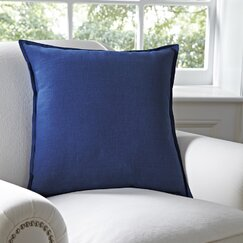 Milly Cotton Pillow Cover, Blue