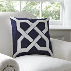 Kira Pillow Cover, Navy & White