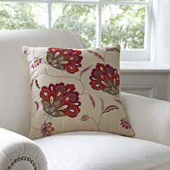 Odette Floral Pillow Cover, Red