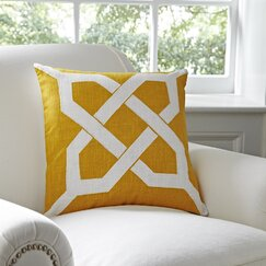 Kira Pillow Cover, Canary & White