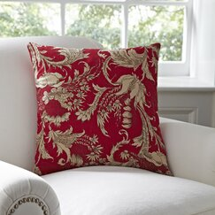Vivi Cotton Pillow Cover, Red & Natural