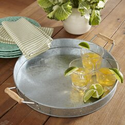 <strong>Birch Lane</strong> Galvanized Drink Tray