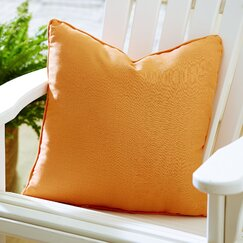 Mara Indoor/Outdoor Solid Pillow, Tangerine