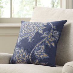 Penelope Cotton Pillow Cover, Navy