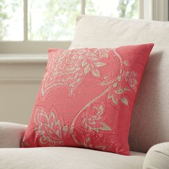 Penelope Cotton Pillow Cover, Red