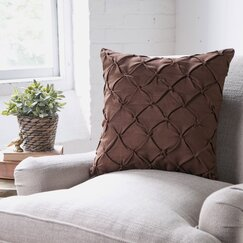 Alda Pillow Cover, Chocolate