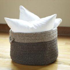 Minter Wool Basket, Chocolate