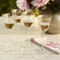 Aveline White Wine Glasses, Gold (Set of 4)