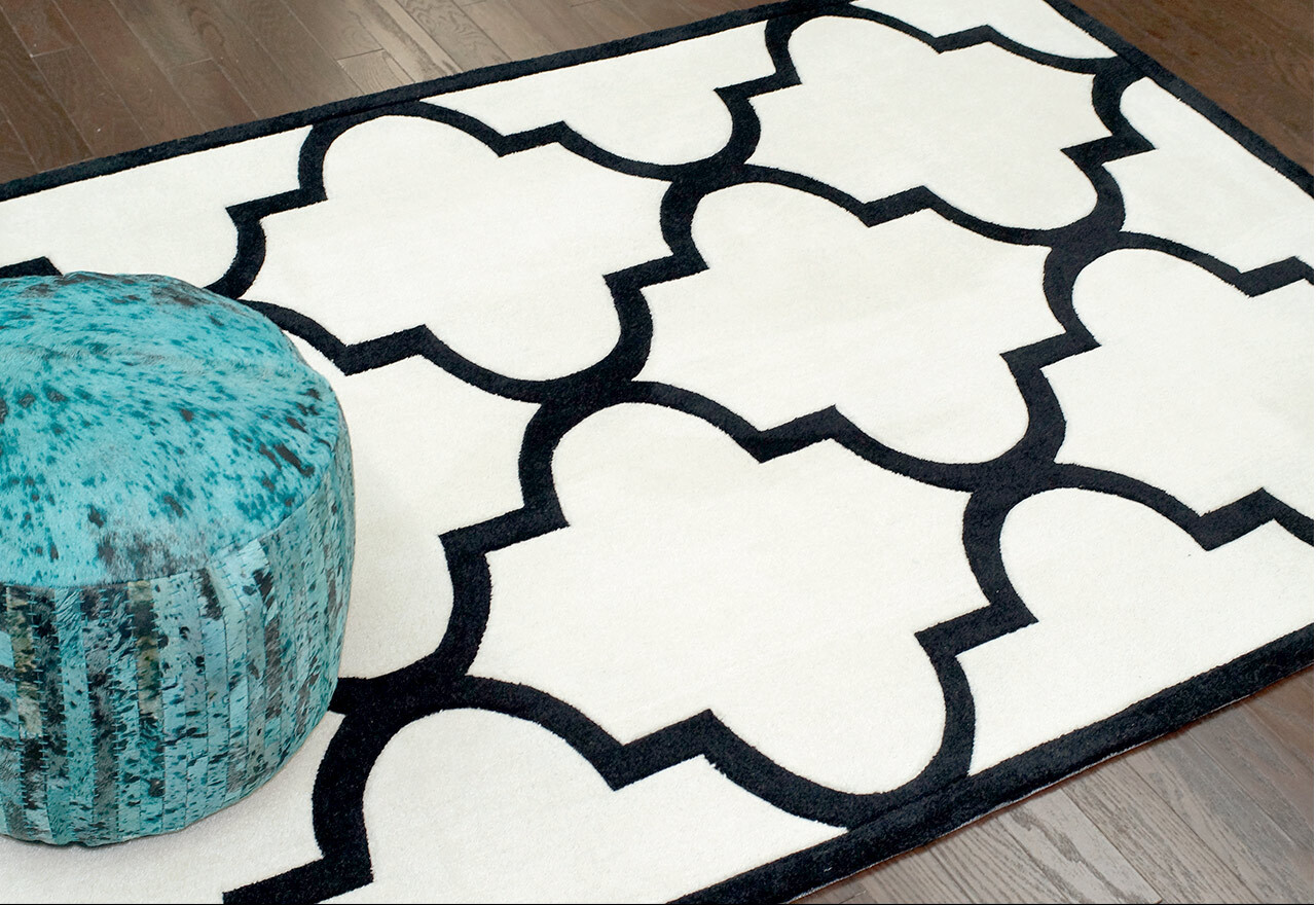 Classic Contrast: Black + White Rugs