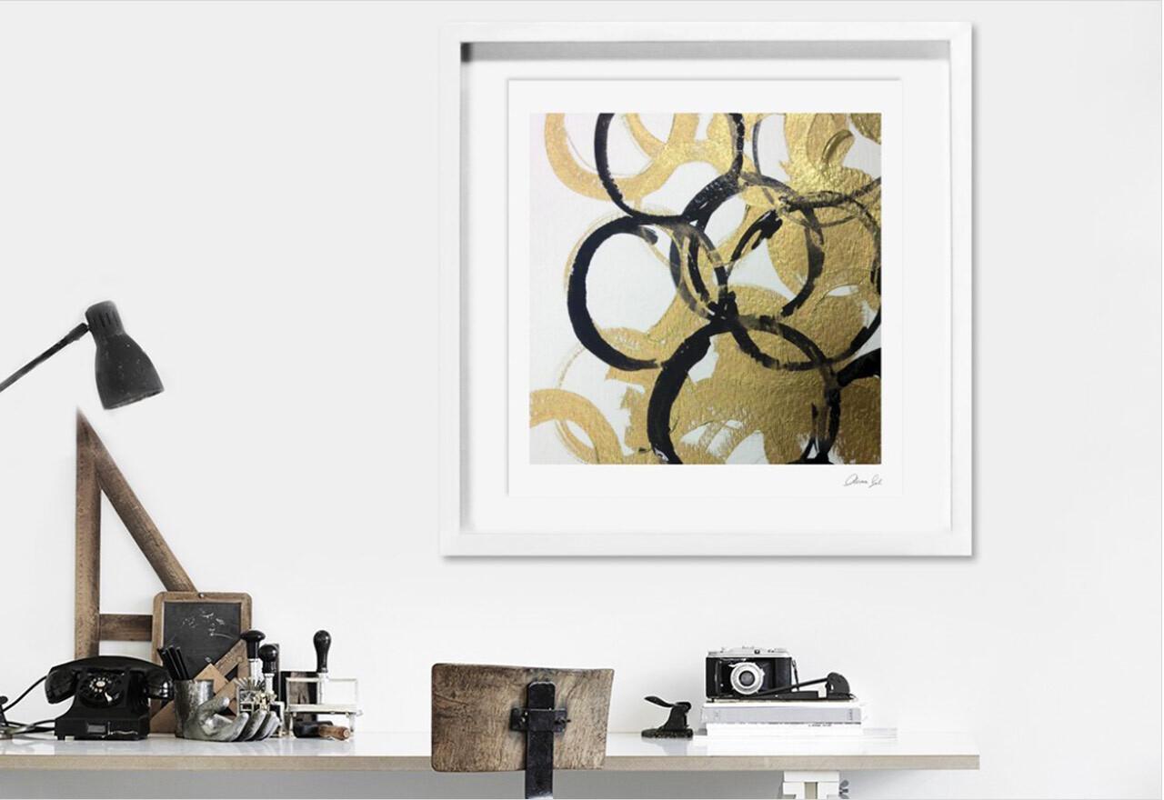 Metallic + Mirrored Wall Art
