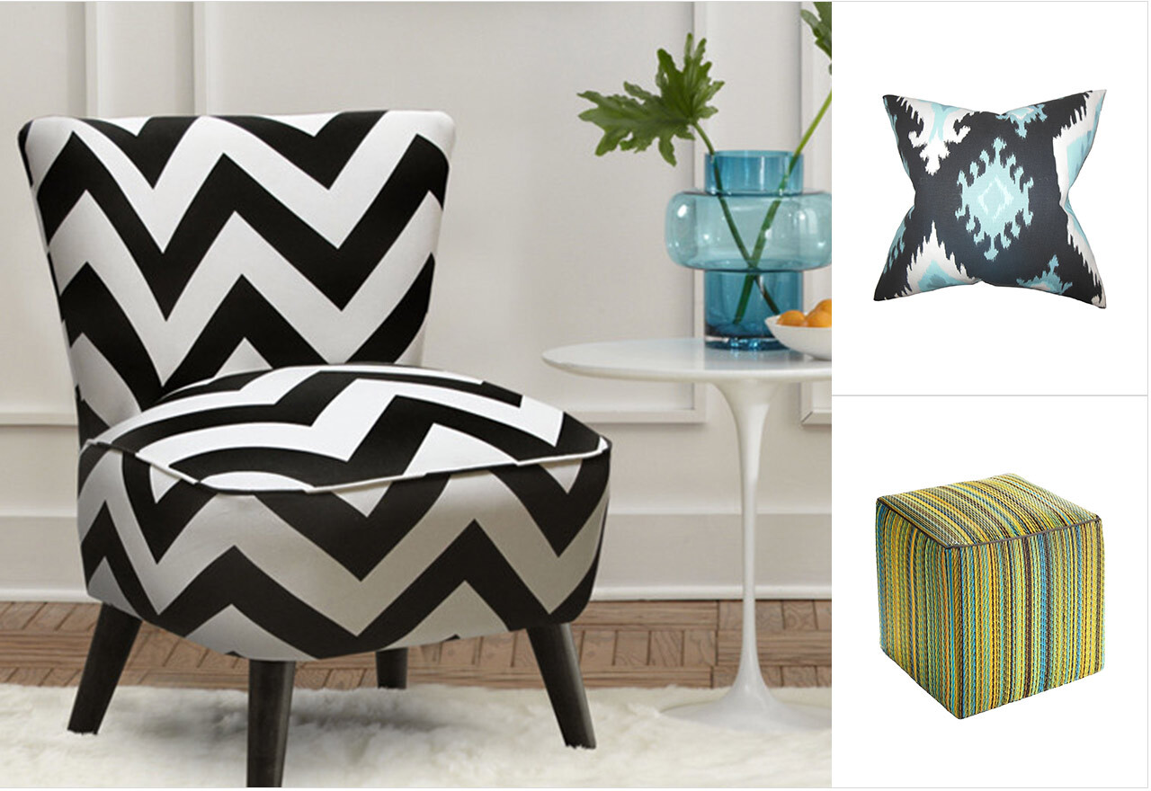 Pattern Play: Stripes, Chevron + Ikat