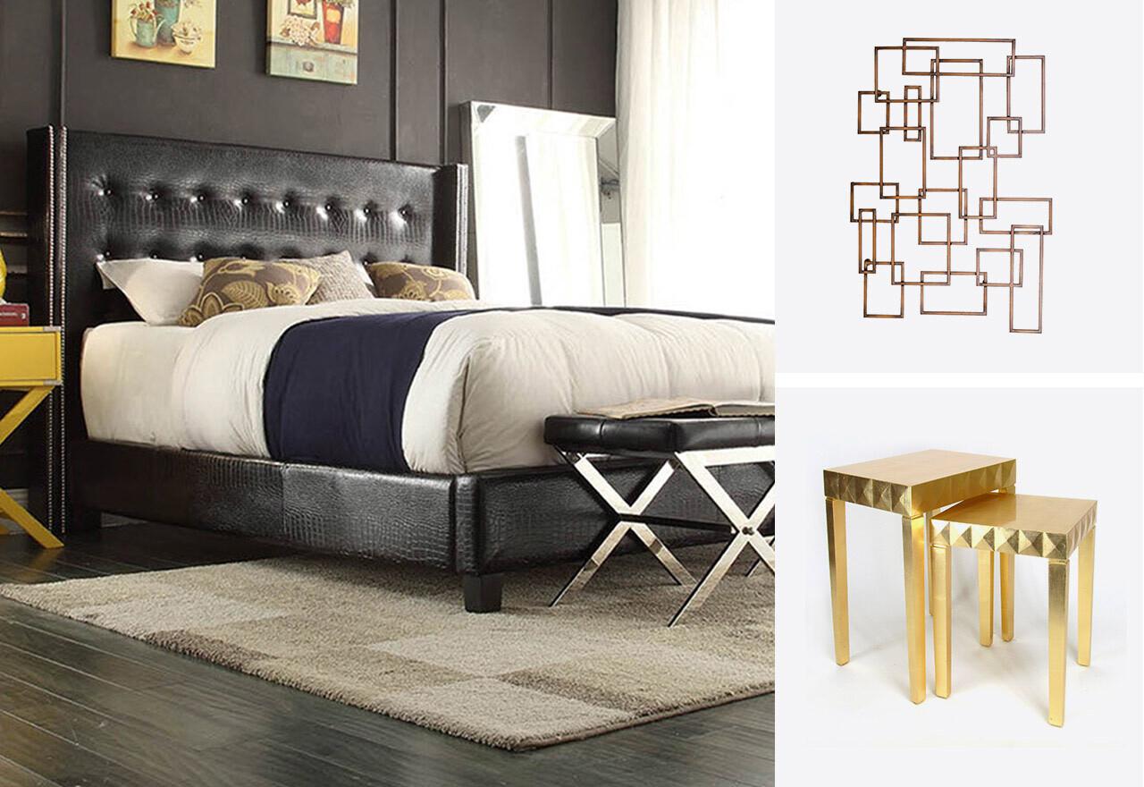 Black, Gold & Bold Bedroom
