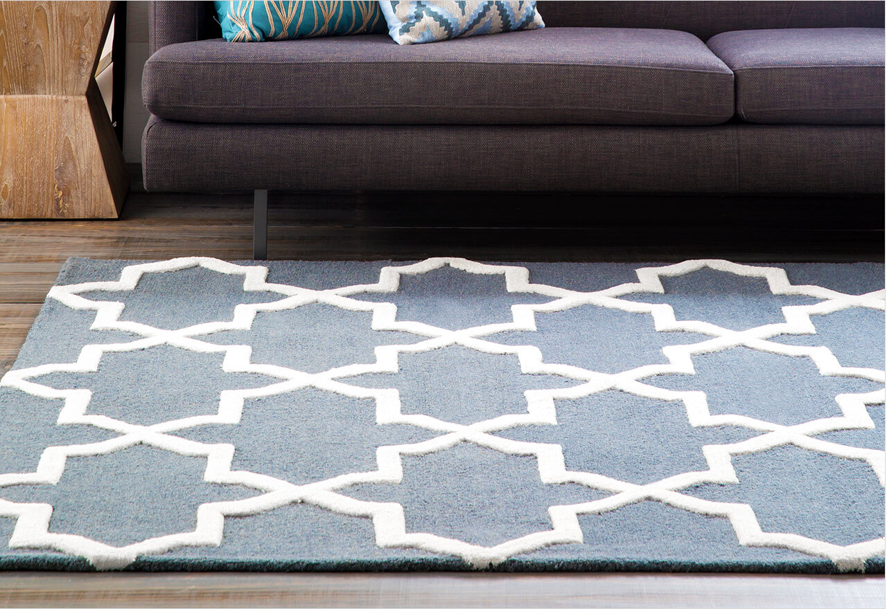 Rugs in Cool Blues & Neutral Hues